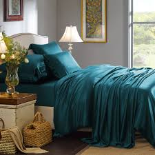 teal silk bedding set teal silk bedding set