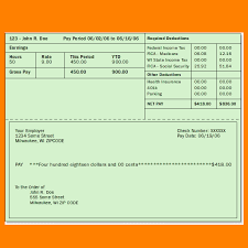 Free Paystub Templates Gorgeous Microsoft Pay Stub Template Vaydileeuforicco