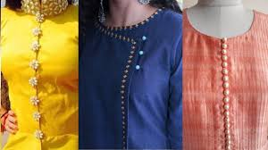 Simple Kurti Neck Designs Images Neck Designs With Buttons Simple Neck Designs