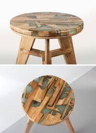 Interior: Sculptural Resin Table Made From Year Old Kauri Wood ...