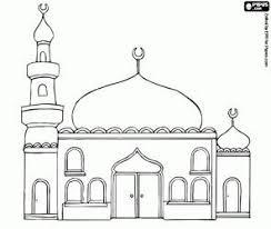 Een Moskee Met De Koepels En De Minaret Kleurplaat رمضان Ramadan