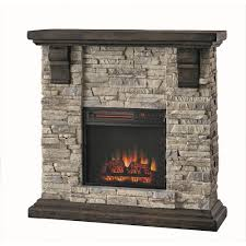 home decorators 103034 highland 40 faux stone mantel electric
