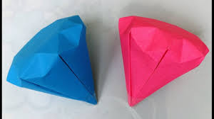 How to make a paper <b>diamond</b> / <b>DIY</b> - YouTube