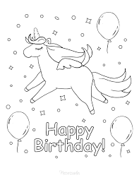 Seven candles on birthday cake. 55 Best Happy Birthday Coloring Pages Free Printable Pdfs