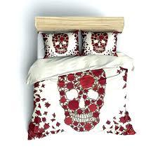 skull comforter bed sets skull bed sets queen good skull bedding sets full in shabby chic