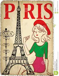 Paris Graphic Designer Shopping Girl In Paris Stock Illustration Illustration Of