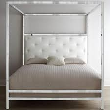 cowbridge furniture bernhardt leather headboard polished chrome ...