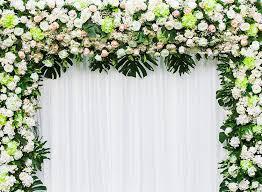 Wedding Photo Background Amazon Com 10x7 Ft Wedding Flowers Arch Background White