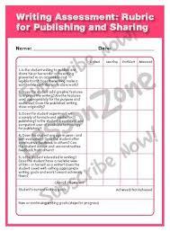 Lesson Zone NZ   Assessment Item Pinterest six traits writing personal narrative rubric  th grade   Google Search
