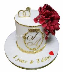 Pretty Engagement Cake