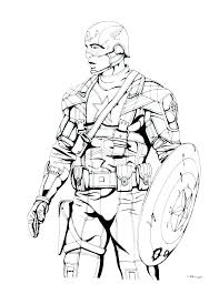 Captain America Winter Soldier Coloring Pages Captain Coloring Page