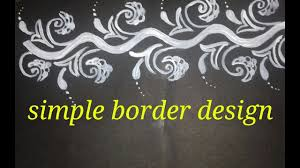 Border Alpana Design Easy Alpana Border Design
