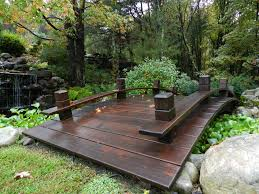 Small Picture Wood Plank Garden Bridge with Rails Wood planks Bridge and Mexicans