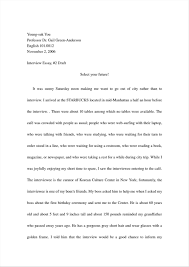 Essay Amples Interview Paper Apa Format Ample Mla Example Examples