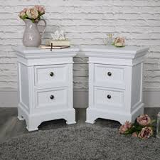 White furniture Antique Pair Of White Two Drawer Bedside Chest Daventry White Range Big Lots White French Style Bedroom Furniture Melody Maison