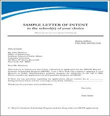 Letter Of Intent For University Cool EXAMPLE OF LETTER OF INTENT Bidproposalform