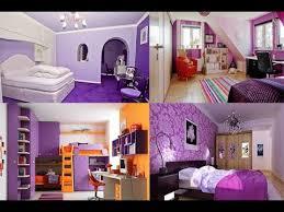 contoh inspirasi desain dekorasi interior kamar tidur nuansa ungu