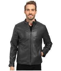 upc 797762728920 image for calvin klein faux leather jacket true grey men s