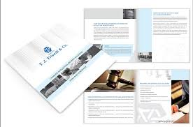 Law Firm Brochure Interesting Corporate Brochure Design For IP Law Firm YJ Trivedi Co By