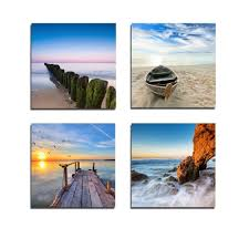 beach canvas wall art for most popular amazon wieco art seaview modern seascape giclee on amazon beach canvas wall art with view photos of beach canvas wall art showing 9 of 15 photos