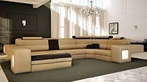 Modern sectional sofa Microfiber Image Unavailable Amazoncom Amazoncom Italian Design Modern Sectional Sofa Honey Kitchen