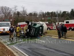Overturned Cement Truck Keeps Responders Busy In Waldorf