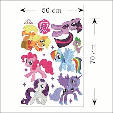 new home decor 3d pvc my little pony 6 ponies wall stickers decal