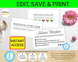 Membership Cards Templates Amazing Rodan And Fields Business Card Template Printable R F Cards R Etsy
