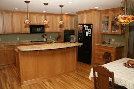 kitchen floor cabinets. Oak Floor Cabinet Maribo Intelligentsolutions Medium Kitchen Light Cabinets With What Color Upper Hardwood Floors Black Granite Countertops Wood Tone Honey I