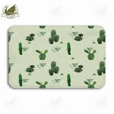 vixm geometric cactus tropical summer plant background welcome door mat rugs flannel anti slip entrance indoor kitchen bath carpet high end carpet brands