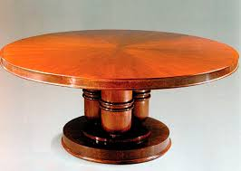 art deco dining table cherrywood round dt104 by jacques emile ruhlmann