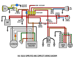 xs simplified and complete wiring diagram electrical xs650 simplified and complete wiring diagram
