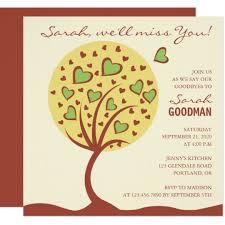 Farewell Invites For Colleagues Heart Tree Farewell Party Invitation