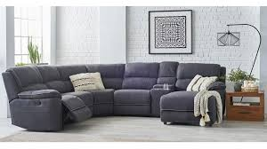 fabric recliner sofa. Stockholm 5-Seater Fabric Recliner Sofa With Chaise