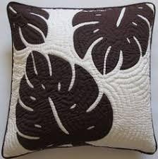 2 Hawaiian Quilt Pillow Covers, Cushions, 100% Hand Quilt ... & Hawaiian appliqued and quilted cushion Adamdwight.com