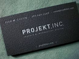 Business Card For Projekt Inc The Best Of Business Card Design