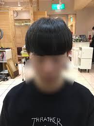 韓流のヘアスタイルにカットしてコンマヘアーにスタイリングしました