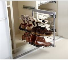 Pull Out Shoe Rack 3 Or 5 Tier Softclose Runners   Building stuff    Pinterest   Shoe rack, Shoe storage solutions and Bedroom storage