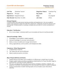2016 Substitute Teacher Resume Sample Substitute Teacher Resume