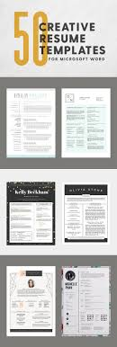 17 best ideas about resume templates resume resume 50 creative resume templates you won t believe are microsoft word