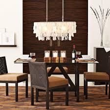 modern rectangular chandelier dining room