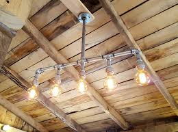 modern industrial lighting. Elegant Rustic Industrial Lighting Applied To Your Interior Ideas: With Wood Ceiling Modern