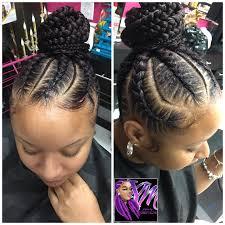 Black Braided Bun Hairstyles Feed In Braids Bun Danyale The Hairstylist Pinterest Braids
