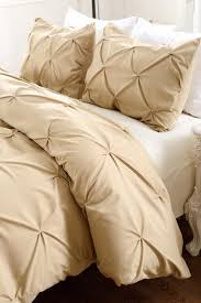 pinch pleat design khaki bedding set includes comforter and duvet cover style 1006