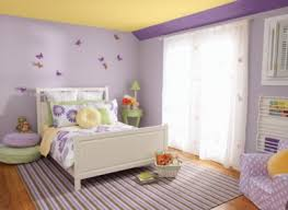Small Picture Girls Bedroom Paint With Simple Purple Interior Design Combination