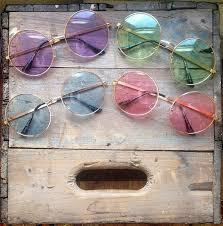 Oversized Round Sunglasses Vintage Pastel Hippie Circle Glasses ...