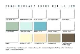 Aluminum Siding Colors Chart Mastic Color Chart Travis D Me