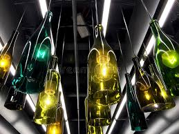 Decorating Empty Wine Bottles Beautiful Retro Light Lamps Decoration Made Of Empty Wine Bottles 50