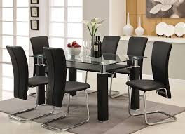 image of modern kitchen table sets black and steel