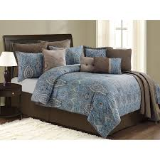 blue and brown comforter sets with blanket cushions on set remodel 18